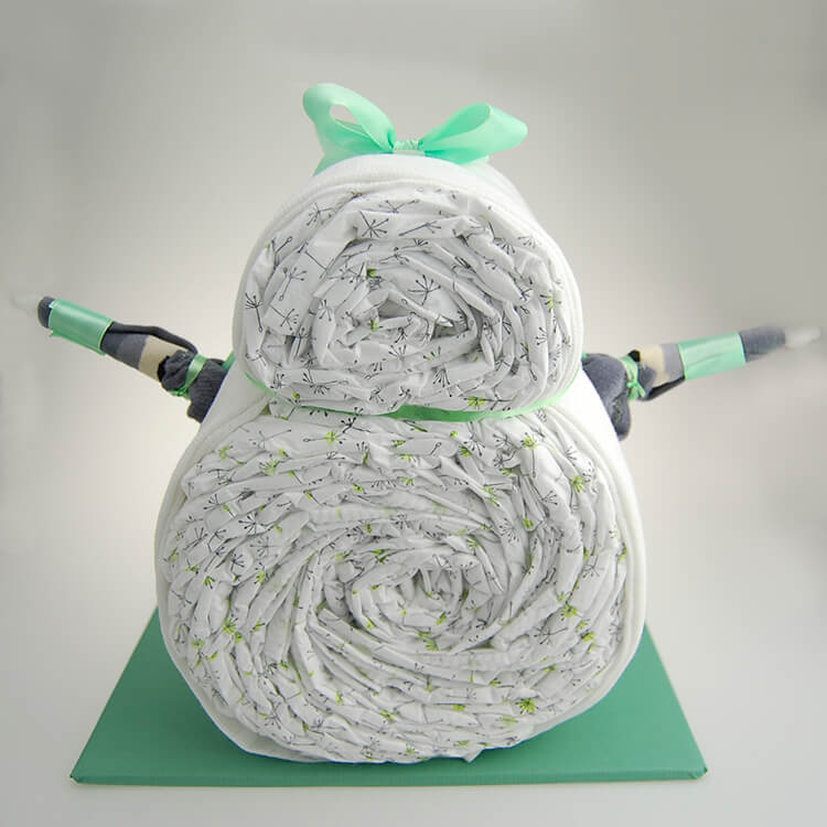 Taufgeschenk Geschenk zur Geburt Geschenk zur Babyparty Handgefertigte Windeltorte 22 LILLYDOO Windeln Windeltorte.com Windelavocado in Gr/ün Windeltorte Avocado inkl